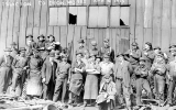 Employees at the Isaacson Co. Iron Works, foot of King St., April 10, 1915