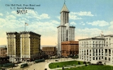 City Hall Park, Frye Hotel and L.C. Smith Building, n.d.