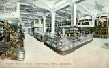 Augustin and Kyer grocery store interior, 1st Ave., n.d.