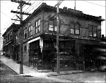 Edgewater Pharmacy and Edgewater Hardware at Woodland Park Ave. and N. 36th St., ca. 1906