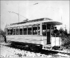 Guy Phinney's private streetcar, ca. 1895