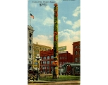 Totem Pole, Pioneer Place at intersection of Yesler Way, James St., and 1st Ave., n.d.