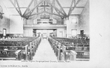 Interior of the Pilgrim Congregrational Church, corner of Broadway and Republican St., n.d.