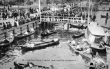 Canoes and boaters at Leschi Park pier, n.d.