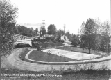 Leschi Park showing the Yesler Way cable trestle and Lake Washington Blvd., n.d.