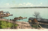 Leschi Park showing the boathouse, Lake Washington, n.d.