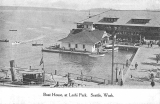 Leschi Park boathouse and boating activities, n.d.