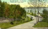 Mt. Baker Park roadway and view of Lake Washington, n.d.