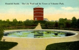 Lily pond and Observation tower at Volunteer Park, n.d.