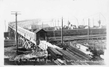 Flume used in the regrading of 3rd Ave., 1909