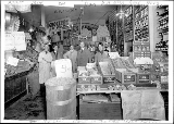 Herman A. Eba's grocery interior, Pike Place Market, ca. 1914
