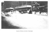 Streetcars in downtown Seattle after a snow storm, n.d.