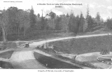 Automobile on Lake Washington Boulevard, Seattle, ca. 1915