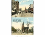 3rd Ave., looking north,  in 1897 and later showing the old Plymouth Congregational Church, n.d.