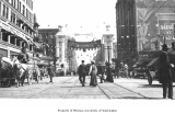 2nd Ave. showing welcome arch for the Alaska Yukon Pacific Exposition, Seattle,  1909