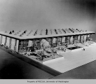 Hall of Industry, architectural  model, Century 21 Exposition, 1962