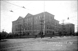 Broadway High School at E. Broadway and E. Pine St., 1908