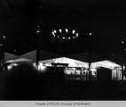 American Gas Association Pavilion exterior at night, Century 21 Exposition, 1962