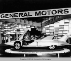 General Motors Corporation exhibit showing the Firebird III, Century 21 Exposition, 1962