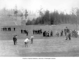 Golfers and grounds at the Seattle Golf and Country Club, ca. 1910