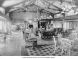 Clubhouse interior, Seattle Golf and Country Club, ca. 1910