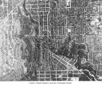 Aerial view of Capitol Hill, Interlaken Park, Volunteer Park and the Arboretum, January 30, 1937