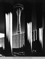 Space Needle at night, Century 21 Exposition, 1962