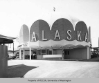 State of Alaska Pavilion exterior, Century 21 Exposition, 1962