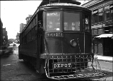 Seattle Municipal Railroad car at 4th Ave. and Main St., ca. 1925