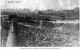 Landfill showing lumps of clay and sluice pipes, Denny Hill regrade, October 1905