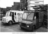 Abandoned delivery vans on Diagonal Ave. S., July 2001
