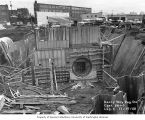 Denny Way Regulating Station construction, Metro Sewage Disposal Project, November 19, 1968