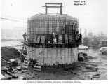 East Marginal Pumping Station construction, Metro Sewage Disposal Project, March 1963
