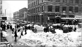 1st Ave. and Columbia St. after a snowstorm, winter 1916