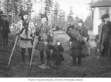 Sami reindeer herders of the Lapland-Yukon Relief Expedition, probabaly at Woodland Park, 1898