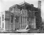St. Mark's Episcopal Cathedral under construction showing wooden scaffolding, Seattle, Washington,...