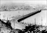 Stone Way Bridge looking north from Queen Anne, ca. 1915