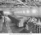Seattle Hardware Company warehouse filled with barrels, Seattle, ca. 1917