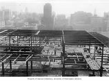 Frederick and Nelson construction and Seattle to the south, 1950
