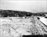 Denny Hill neighborhood regrade looking north, May 25, 1931