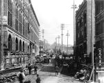 Yesler Way, looking east from 2nd Ave., ca. 1890
