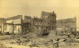 Aftermath of the Seattle fire of June 6, 1889 at 1st Ave. and Cherry St.
