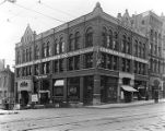 Hoge Building, 2nd Ave. corner of Cherry St., ca. 1905