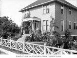 Soule residence porch and garden, 1353 32nd Ave. S., Seattle, 1899-1900