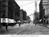 2nd Ave. looking north from Yesler Way, Seattle, 1899-1900