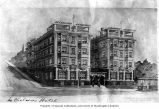 Architectural rendering of the Chelsea Hotel, Seattle, ca. 1907