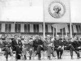 World's Fair Commission Chairman Edward E. Carlson, World's Fair President Joe Gandy, U.S. Senator...