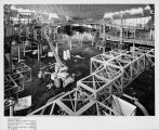 Early construction of the World of Tomorrow Exhibit for the Seattle World's Fair, January 31, 1962