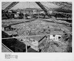Skeletal foundation of the Washington State Coliseum, Seattle, September 29, 1961