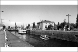 Boats passing throught the Hiram M. Chittenden Locks, Lake Washington Ship Canal, May 30, 1957